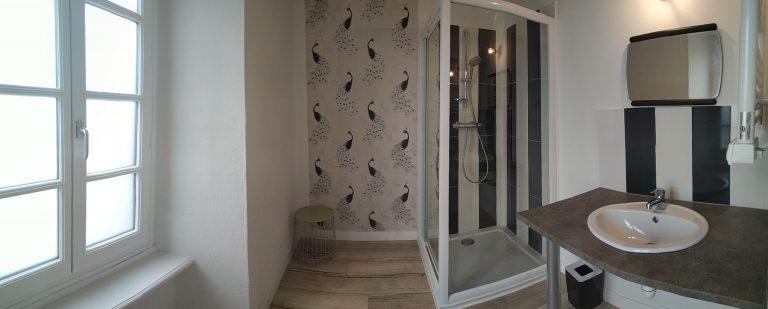 panoramique salle de bain du gîte Ty Kousked